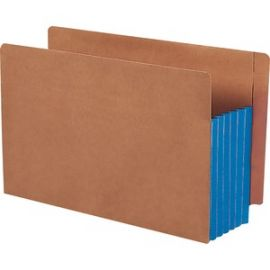 Extra-wide End Tab File Pockets with Reinforced Tab and Colored Gusset