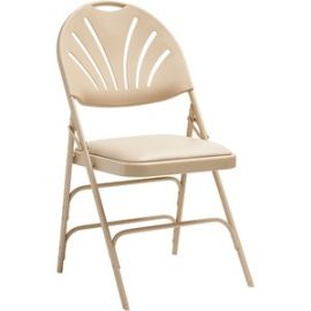 XL Fanback Steel and Vinyl Folding Chair
