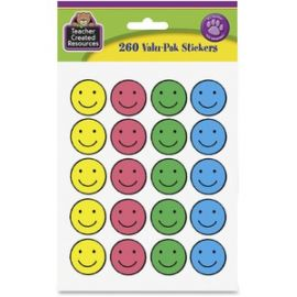 "1"" Round Happy Face Stickers"