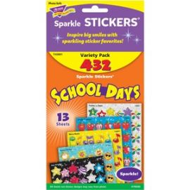 School Days Sparkle Stickers Assortment