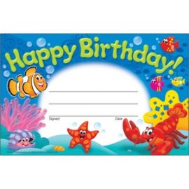 Happy Birthday Sea Buddies Awards