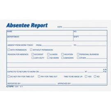 Absentee Report Form