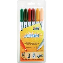 Artwin Assorted Colors Double-ended Markers