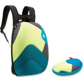Green/Blue Shapes Shell Backpack Set