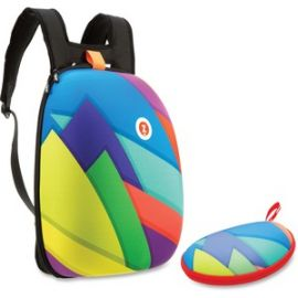 Colorful Triangles Shell Backpack Set