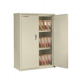 Fireking Cabinet CF4436 MDPA LGL Fire Resistant Double door storage cabinet with end tab inserts 44 Parchment