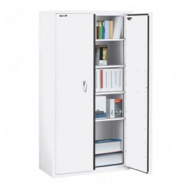 Fireking CF7236 DAW Fire Resistant Double door storage cabinet 72 Arctic White