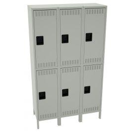 "18"" Deep Assembled Double Tier Locker - 3 Wide with Legs"