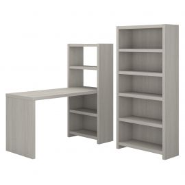 Bookcase Desk with Storage