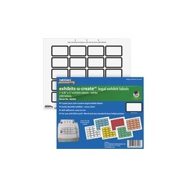 "Tabbies Legal Exhibits-U-Create 1"" Labels"