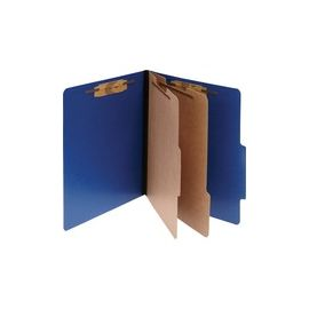 Acco ColorLife PRESSTEX 6-Part Classification Folders