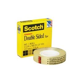"""Scotch Permanent Double-Sided Tape - 1/2""""W"""