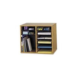 Safco Adjustable 12-Slot Wood Literature Organizer
