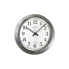 "Artistic 16"" Galvanized Metal Round Wall Clock"