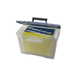 Storex Plastic Portable File Box
