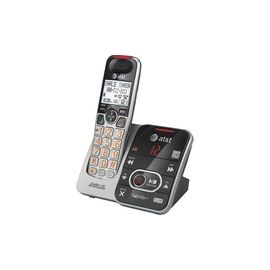 AT&T CRL32102 DECT 6.0 Expandable Cordless Phone with Answering System and Caller ID/Call Waiting, Silver/Black, 1 Handset