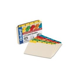 Oxford A-Z Laminated Tab Card Guides