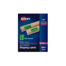 Avery® High-Visibility Neon Shipping Labels