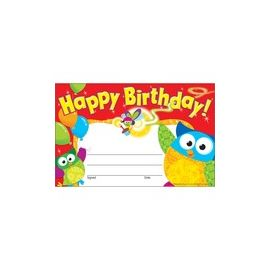 Trend Happy Birthday Owl-Stars Recognition Awards