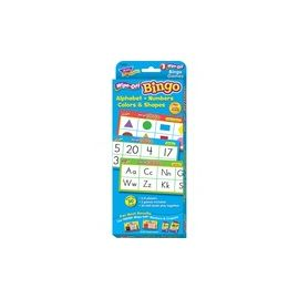 Trend Wipe-Off Alphabet Shapes Bingo Game