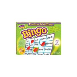 Trend Prefixes and Suffixes Bingo Game