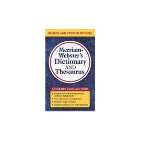 Merriam-Webster Dictionary/Thesaurus Printed Book