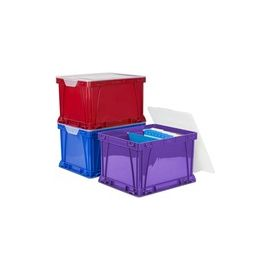 Storex 3 Piece Cube Storage Bins