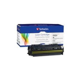 Verbatim Remanufactured Laser Toner Cartridge alternative for HP CF381A Cyan