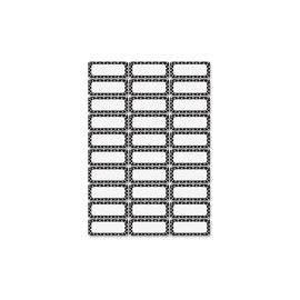 Ashley Dry Erase Black/White Dots Nameplate Magnets