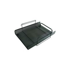 """Artistic Urban Collection Punched Metal Letter Tray 8.5"""" x 11"""", Black"""
