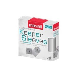 Maxell CD/DVD Keeper Sleeves - Clear (50 Pack)