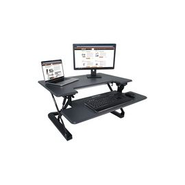 "Victor High Rise Height Adjustable Standing Desk with Keyboard Tray (36"", Gray)"