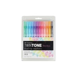 Tombow TwinTone Pastels Dual-tip Marker Set