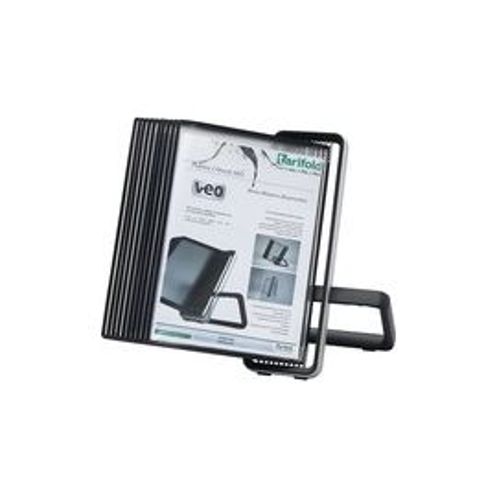 Tarifold VEO Desk Display Unit, 10 Black Pockets