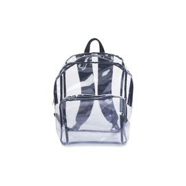 Tatco Carrying Case (Backpack) Notebook - Clear, Black