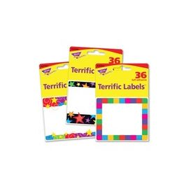 Trend Terrific Labels Colorful Assorted Name Tags