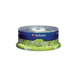 Verbatim CD-RW 700MB 2X-4X with Branded Surface - 25pk Spindle