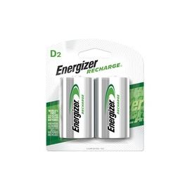 Energizer Recharge Universal Rechargeable D Batteries, 2 Pack