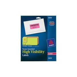 Avery® High-Visibility Fluorescent Labels