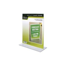 NuDell T-shape Acrylic Frame Standing Sign Holder