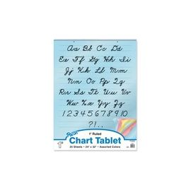 Pacon Cursive Cover Colored Paper Chart Tablet