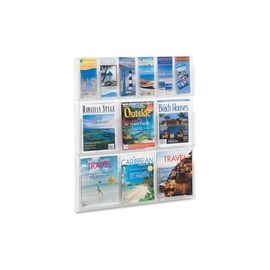 Safco Magazine/Pamphlet Plastic Display Rack