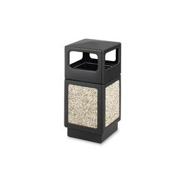 Safco Indoor/outdoor Square Receptacles