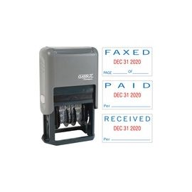 Xstamper Self-Inking Paid/Faxed/Received Dater