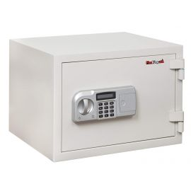 FireKing KF0915-1WHE One-Hour Rated Steel Fire Safe with Electronic Lock 0.97 Cubic Capacity  White