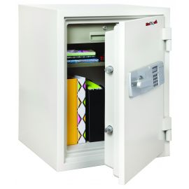 FireKing KF2115-2WHE Two-Hour Rated Steel Fire Safe with Electronic Lock 2.56 Cubic Capacity  White
