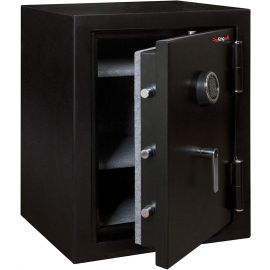 FireKing Half Hour Fireproof Safe with 2 Carpeted Shelves KF2418-HBLE  Black