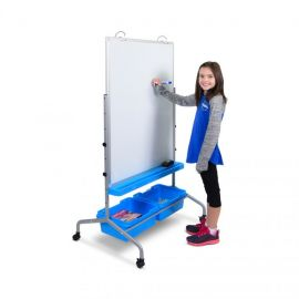 Luxor L330 Classroom Chart Stand with Storage Bins