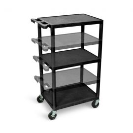 Luxor Black Endura Presentation Cart Multi Height