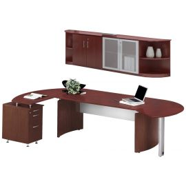 Mayline MNT9LGS Medina Series Office Suite 9 - Mahogany - MNT9LMH